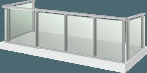 Парапет стъкло и алумин - Glass M