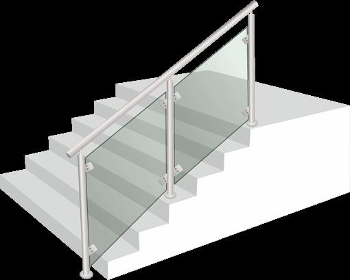 Парапет стъкло и алумин - S01
